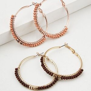 2- pack Beaded Hoops